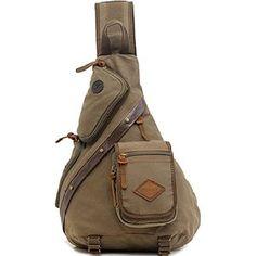 Zerlar Men s Chest Pack Crossbody Bag Vintage Canvas Shoulder Sling Bag  Rucksack Sling Backpack, Backpack 1a32c717a2