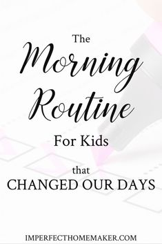 Home Decor for kids The Morning Routine for Kids that Changed Our Days If you're struggling to get your mornings off on the right foot, check out how this simple morning routine changed our days! Christian Homemaking, Christian Parenting, Morning Routine Kids, Raising Godly Children, Raising Kids, How To Have A Good Morning, Good Morning Handsome, Parenting Advice, Practical Parenting