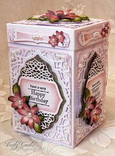 Verity Cards: Happy Birthday Box Tranquil Moments die