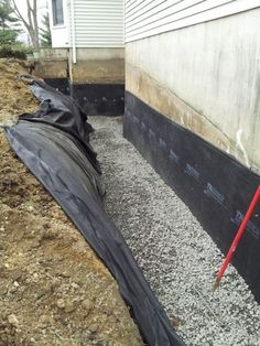 An exterior foundation drain and waterproof membrane is the best solution to your wet basement for the long term. Be smart and fix your wet basement with an exterior waterproofing system. Preferred by Engineers across the world.