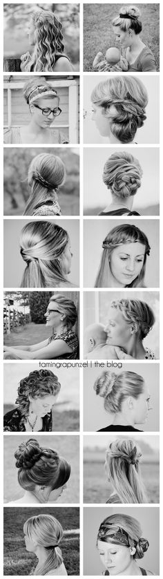 braids, updos, half-ups, easy, everyday hairstyles. visit tamingrapunzel.com for hair inspiration