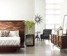 Devon Reclaimed Wood Queen Platform Bed Frame