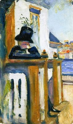 Edvard Munch - Man on the Veranda, 1886