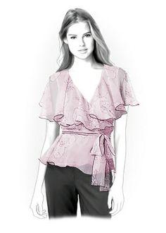 4238 PDF patron de couture pour la Blouse par TipTopFit sur Etsy