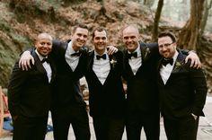 groomsmen with feather bow tie | eInvite.com
