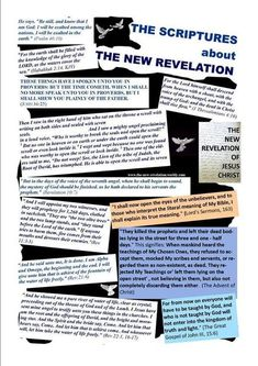 The New Revelation of Jesus Christ