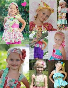 Megan's Accessory Pack:  Adorable fabric flowers, headbands, and sashes