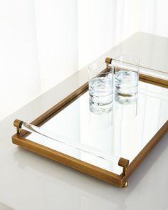 Moderne Brass Tray, Gold - Port 68