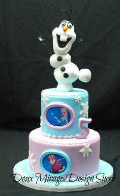 """Gâteau de la Reine des neiges avec Anna Elsa et Ollaf ,Disney """"Frozen"""" Cakes with Anna Elsa and Olaf"""