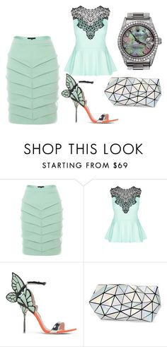 """""""Sem título #671"""" by capm ❤ liked on Polyvore featuring Judy Wu, City Chic, Sophia Webster, Bao Bao by Issey Miyake and Rolex"""