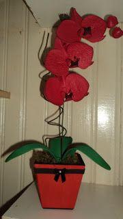 Herthal art's: orquídea phalaenopsis vermelha de e.v.a Herthal ar...