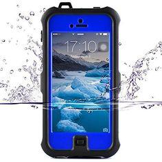 ZVE iphone se ケースiphone5s 防水ケース アイフォン5sケース 防塵 耐衝撃カバー 液晶保護フィルム付き (iphone5S/SE/5c ブルー)