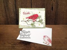 Stampin Up Best Birds Bundle Thinking of You card