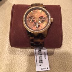 Michael by Michael kors watch Brand new!!! Never worn! Tortoise shell band MICHAEL Michael Kors Accessories Watches