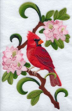 All State Birds embroidery files Jacobean Embroidery, Bird Embroidery, Embroidery Stitches, Embroidery Patterns, Quilt Patterns, Towel Embroidery, Embroidery Files, West Virginia State Bird, State Birds