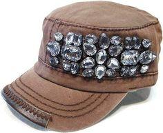 Brown Gem Cadet Hat #fall #fashion