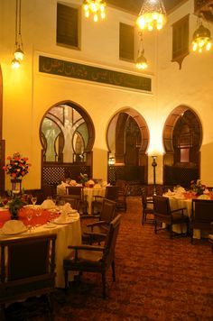 Al Rubayyat, the historic dining room at Mena House, have enchanted distinguished traveler since it was opened in 1887. Kings, Queens, Head of states and Celebrities savored the finest of world cuisine, surrounded by the majesty of its dome, arches and antique lanterns. Treat your guest to a Majestic Ball at the celebrated Al Rubayyat. For information, please call our food and beverage office: Telephone: +20 2 33 77 3222 E-mail: mailto:FNB.TMHC@Menahousehotel.com