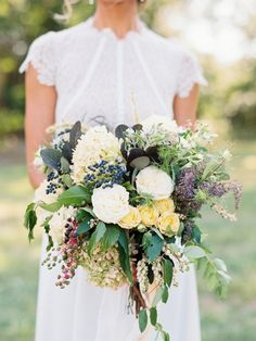 Rustic woodland inspired wedding bouquet: http://www.stylemepretty.com/little-black-book-blog/2016/01/13/modern-woodland-wedding-inspiration/ | Photography: Krista A. Jones - http://kristaajones.com/