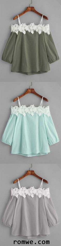 Cold Shoulder Applique Top..the mint green one for sure ;)