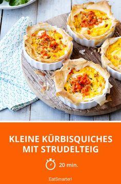 Kleine Kürbisquiches mit Strudelteig - smarter - Zeit: 20 Min. | eatsmarter.de