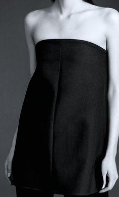 Black Strapless Top - chic minimal fashion details // Protagonist Fall 2014