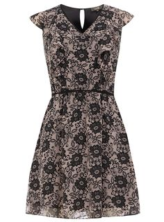 Ruffle lace print dress #DorothyPerkins hrmz shall i get this for the ami gala dinner?