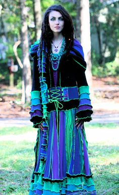 Amazingly beautiful custom made just for you upcycled recycled sweater Fairie dream  gypsy traveling Kaleidoscopecoat