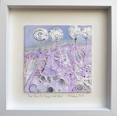 Four Trees In Purple And White (framed) by MFURLONGARTIST on Etsy Beautiful Artwork, Trees, Purple, Unique Jewelry, Frame, Handmade Gifts, Etsy, Vintage, Picture Frame