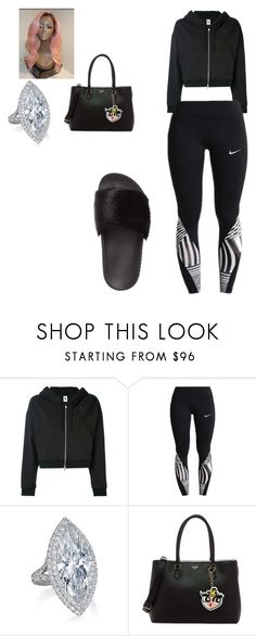 """Untitled #2229"" by queensamsam ❤ liked on Polyvore featuring NIKE, GUESS and Givenchy"