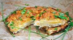 Potato Cheese Tart - This recipe is beyond delicious!!! Easy to make too.. the mandoline pretty much does all the work!