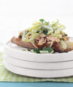 Open-Faced Tuna and Fennel Sandwiches No cooking.