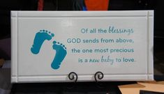 Nursery Baby decor   God's Blessing is a new by Frameyourstory, $49.99