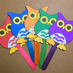 """Five Little Owls"" Countdown Rhyme (from Childcareland)"