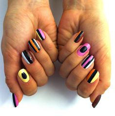 old fashioned liquorice Inspired from my favorite licorice canides by Bassett. Black Nail Polish, Black Nail Art, Liquorice Allsorts, Autumn Nails, So Creative, Fun Nails, Nice Nails, Fabulous Nails, Nail Artist