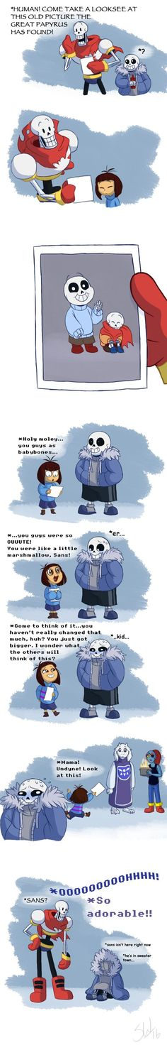 Sans isn't here now.