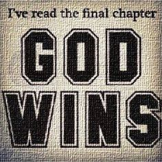"""And we are on His team, so we do too! :) PRAISE THE LORD!!!  """"But thanks be to God, which giveth us the victory through our Lord Jesus Christ."""" (1 Cor. 15:57 KJV)"""