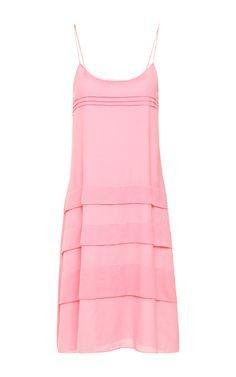 Shop Silk Cotton Pintuck Midi Cami Dress by Richard Nicoll for Preorder on Moda Operandi