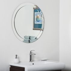 Shop for Chase Round Modern Bathroom Mirror. Get free shipping at Overstock.com - Your Online Home Decor Outlet Store! Get 5% in rewards with Club O! - 19747152