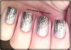 stripes that end on the diagonal and painted with glitter. Nifty
