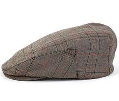 Hooligan Hat by Brixton- Olive/Burgundy Plaid