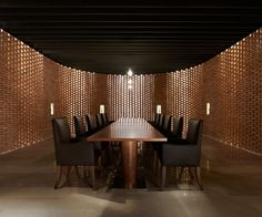 SAKO Architects have designed Asterisk, a wine showroom, restaurant and underground winery located in Beijing, China.