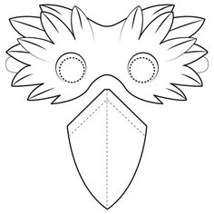 Bird Beak Mask coloring page from Birds category. Select from 31983 printable crafts of cartoons, nature, animals, Bible and many more. Templates Printable Free, Free Printable Coloring Pages, Scary Birds, Beak Mask, Eagle Mask, Bird Coloring Pages, Bird Masks, Bird Costume, Carnival Masks