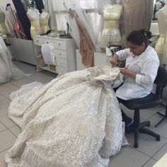 In the Elie Saab studio, haute couture one embroidered stitch at a time.