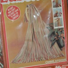 Lasetta Ombre Afghan Kit Sealed Completed Size 38 in x 66 in Vintage 1980s