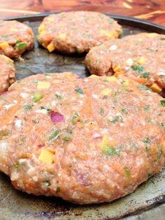 Healthified Cowboy Turkey Burgers & Ranch Slaw — The Skinny Fork - Burger & Sandwich Recipes Ww Recipes, Chicken Recipes, Dinner Recipes, Cooking Recipes, Healthy Recipes, Recipies, Light Recipes, Healthy Meals, Turkey Burger Recipes