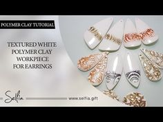 Part 1! White Polymer Clay Workpiece for Earrings - sculpting, toning, baking…~ Polymer Clay Tutorials