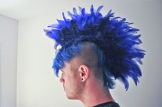 Awesome feather mohawk tutorial!!  Detailed instructions in the 6 steps.