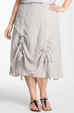 Eileen Fisher Drawstring Hem Linen Skirt (Plus) available at #Nordstrom