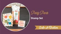 Party Pants Stamp Set Video by Stampin' Up! :: Creativelee Yours Card Tutorials, Video Tutorials, Diy Craft Projects, Project Ideas, Crafts, Hello Sarah, Hello Hello, Stampin Up, Stampin Pretty