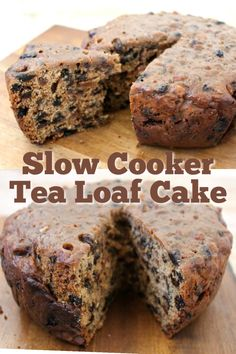 This cake is enjoyed in Great Britain with a cup of tea, the dried fruit is soaked in hot black tea which adds loads of flavour Crock Pot Desserts, Slow Cooker Desserts, Slow Cooker Recipes, 3 Ingredient Fruit Cake Recipe, Fruit Cake Recipes, Old Fashioned Fruit Cake Recipe, Slow Cooker Cake, Tea Loaf, Christmas Cooking